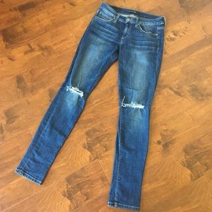 Joes Jeans distressed ripped knees skinny jeans